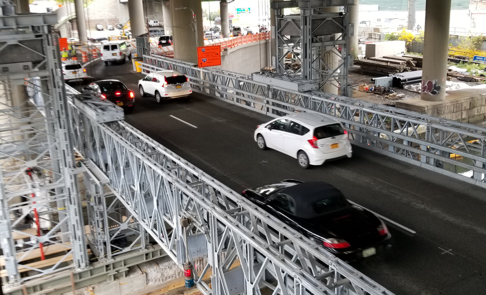 Acrow's temporary modular steel lift bridges in the Bronx