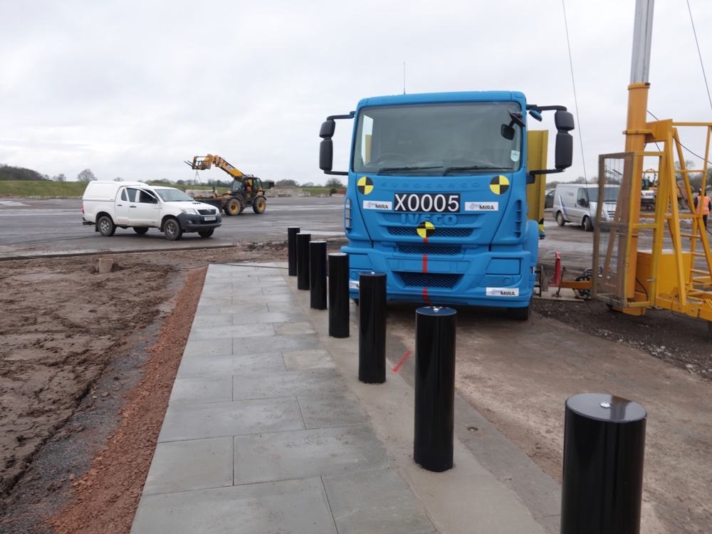 Heald's Bridge Bollard System is crash-tested to IWA-14 standards against an 18tonne N3C vehicle