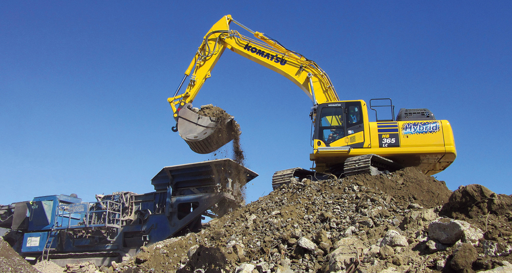 The Komatsu Hybrid technology helps to reduce carbon footprint and fuel consumption