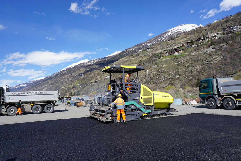 Ammann's latest pavers feature sophisticated systems to help optimise paving quality