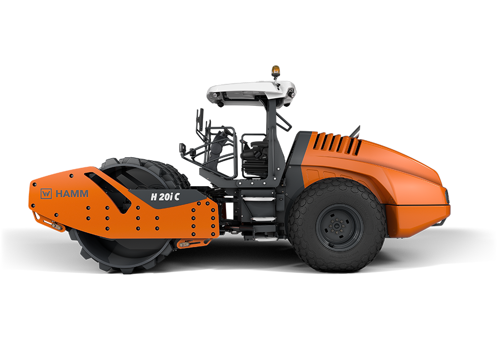 Safe operation from a distance can be achieved with Hamm's remote controlled soil compactor
