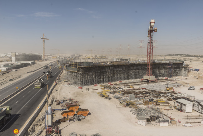 Large-area formwork Top 50 and Load-bearing tower formed Bridges 3A and 3B of Junction 3  (image copyright Doka)