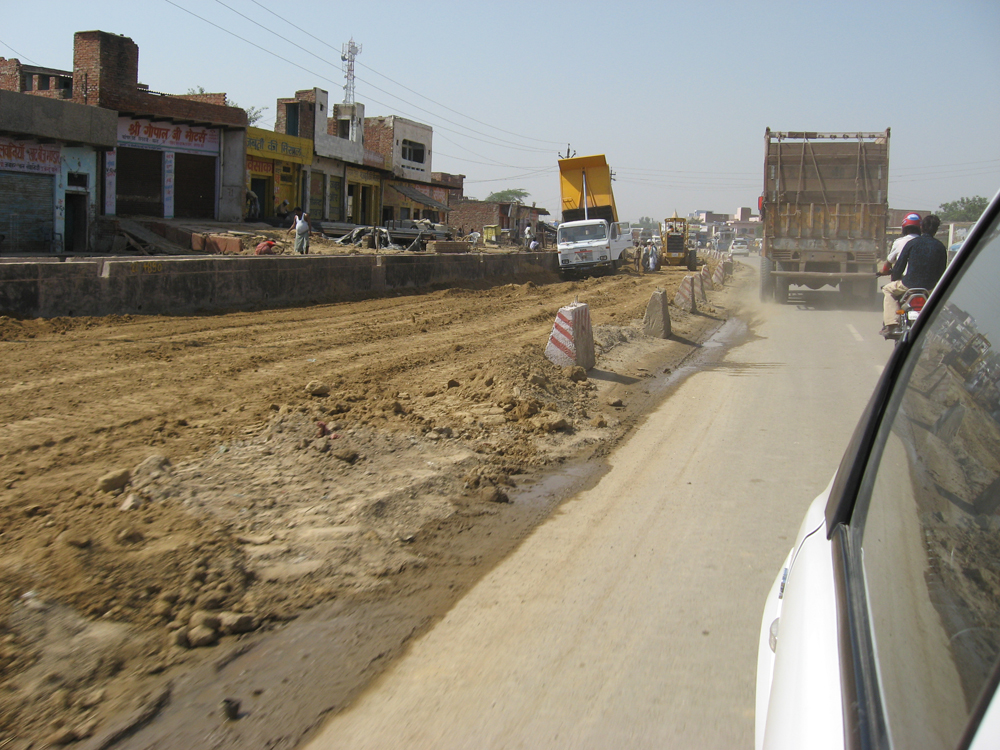 Transport is improving steadily in India as the road system benefits from new highways, but more work remains to be done