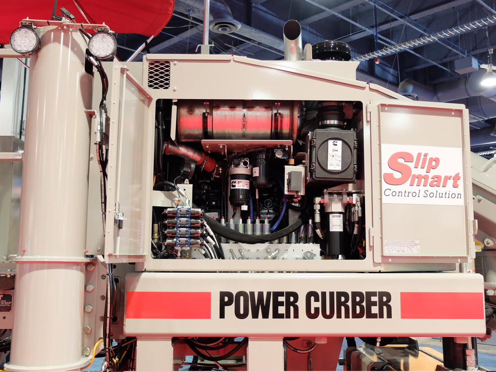 Access for maintenance has been improved for the new 5700-D slipformer from Power Curbers