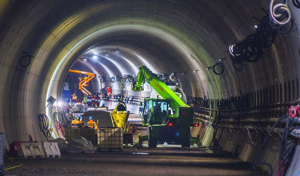 The two tunnels both feature three pumping systems under the road to collect rainwater 		entering, which is then discharged - image © courtesy of Frank Jansen