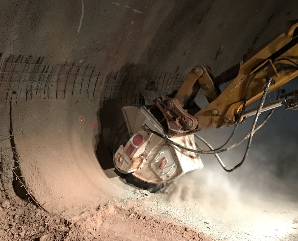Using the KEMROC cutter has allowed efficient and accurate excavation