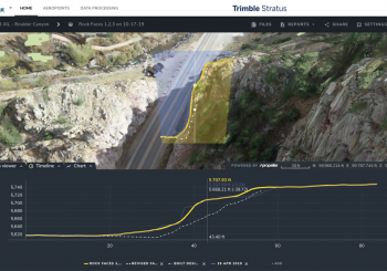 Cross section comparison Trimble