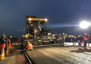 Two BOMAG BF 800 C pavers were used at the NYIA airport project by contractor PT PP Tbk