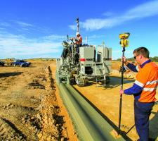 Topcon technology for stringless paving