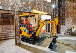 Fast charging is claimed for JCB's all-electric mini excavator