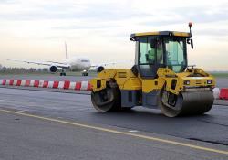 Rome Fiumicini Airport is testing a new asphalt