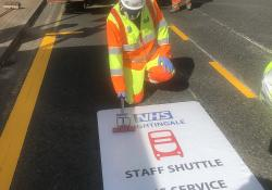 WJ puts finishing touches on temporary markings at London's Nightingale Hospital