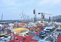 A previous staging of the bauma CONEXPO INDIA exhibition pic: Messe Munchen