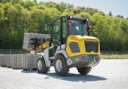 High performance is claimed for the new Kramer compact wheeled loaders