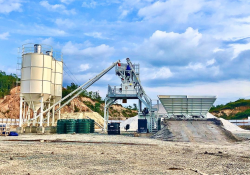 A contractor in Malaysia is using an Elba plant from Ammann to produce concrete for a large construction project