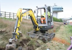 Wacker Neuson 38Z3 zero tailswing machine