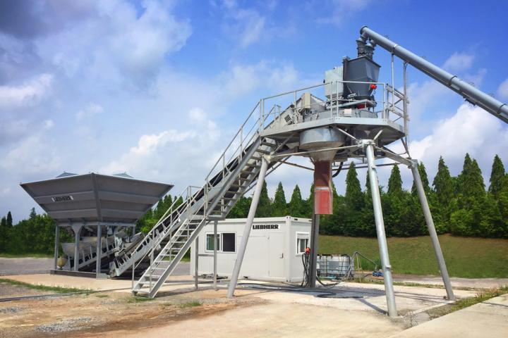 Liebherr is now offering an efficient compact concrete plant