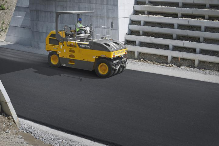 Volvo CE is now offering its efficient PT220 rubber tyred compactor to key emergent markets