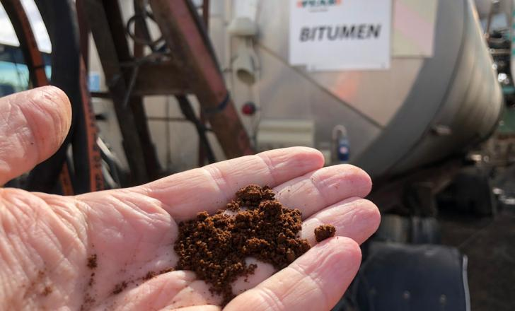 Lignin, a natural polymer from softwood has been used to replace some of the bitumen in a road in Sweden